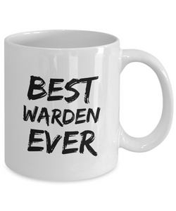 Warden Mug Best Ever Funny Gift for Coworkers Novelty Gag Coffee Tea Cup-Coffee Mug