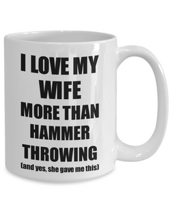 Hammer Throwing Husband Mug Funny Valentine Gift Idea For My Hubby Lover From Wife Coffee Tea Cup-Coffee Mug