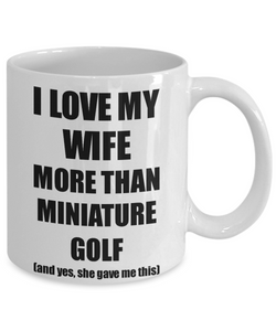 Miniature Golf Husband Mug Funny Valentine Gift Idea For My Hubby Lover From Wife Coffee Tea Cup-Coffee Mug