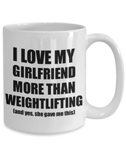 Load image into Gallery viewer, Weightlifting Boyfriend Mug Funny Valentine Gift Idea For My Bf Lover From Girlfriend Coffee Tea Cup-Coffee Mug
