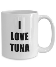 Load image into Gallery viewer, I Love Tuna Travel Mug Funny Gift Idea Novelty Gag Coffee Tea Cup-Coffee Mug
