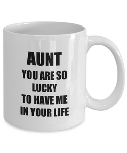 Lucky Aunt Mug Funny Gift Idea for Novelty Gag Coffee Tea Cup-Coffee Mug