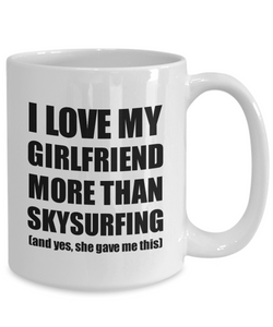 Skysurfing Boyfriend Mug Funny Valentine Gift Idea For My Bf Lover From Girlfriend Coffee Tea Cup-Coffee Mug