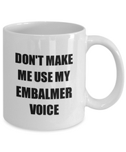Load image into Gallery viewer, Embalmer Mug Coworker Gift Idea Funny Gag For Job Coffee Tea Cup-Coffee Mug