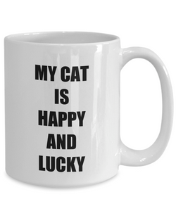 Happy Lucky Cat Mug Funny Gift Idea for Novelty Gag Coffee Tea Cup-[style]