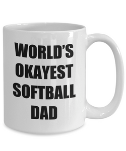 Softball Dad Mug Funny Gift Idea for Novelty Gag Coffee Tea Cup-Coffee Mug