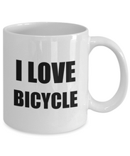 Load image into Gallery viewer, Mug I Love Bycicle Bicycle Funny Gift Idea Novelty Gag Coffee Tea Cup-[style]