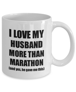 Marathon Wife Mug Funny Valentine Gift Idea For My Spouse Lover From Husband Coffee Tea Cup-Coffee Mug