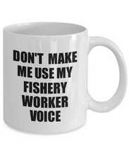 Load image into Gallery viewer, Fishery Worker Mug Coworker Gift Idea Funny Gag For Job Coffee Tea Cup Voice-Coffee Mug