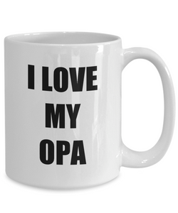 I Love Opa Mug Funny Gift Idea Novelty Gag Coffee Tea Cup-Coffee Mug
