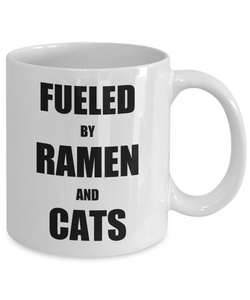 Cat Ramen Mug Funny Gift Idea for Novelty Gag Coffee Tea Cup-Coffee Mug
