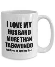 Load image into Gallery viewer, Taekwondo Wife Mug Funny Valentine Gift Idea For My Spouse Lover From Husband Coffee Tea Cup-Coffee Mug