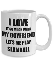 Load image into Gallery viewer, Slamball Mug Funny Gift Idea For Girlfriend I Love It When My Boyfriend Lets Me Novelty Gag Sport Lover Joke Coffee Tea Cup-Coffee Mug