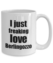 Load image into Gallery viewer, Berlingozzo Lover Mug I Just Freaking Love Funny Gift Idea For Foodie Coffee Tea Cup-Coffee Mug