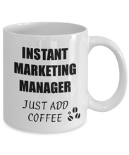 Load image into Gallery viewer, Marketing Manager Mug Instant Just Add Coffee Funny Gift Idea for Corworker Present Workplace Joke Office Tea Cup-Coffee Mug