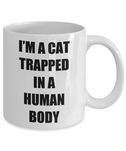 Cat Trapped Mug Human Body Funny Gift Idea for Novelty Gag Coffee Tea Cup-Coffee Mug