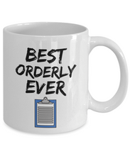 Load image into Gallery viewer, Orderly Mug - Best Orderly Ever - Funny Gift for Orderly-Coffee Mug