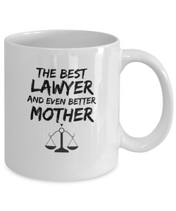 Lawer Mom Mug Best Mother Funny Gift for Mama Novelty Gag Coffee Tea Cup-Coffee Mug