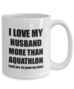 Aquathlon Wife Mug Funny Valentine Gift Idea For My Spouse Lover From Husband Coffee Tea Cup-Coffee Mug