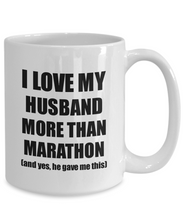 Load image into Gallery viewer, Marathon Wife Mug Funny Valentine Gift Idea For My Spouse Lover From Husband Coffee Tea Cup-Coffee Mug