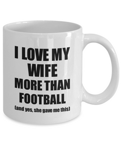 Football Husband Mug Funny Valentine Gift Idea For My Hubby Lover From Wife Coffee Tea Cup-Coffee Mug
