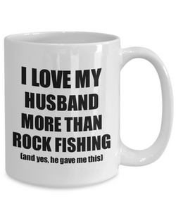 Rock Fishing Wife Mug Funny Valentine Gift Idea For My Spouse Lover From Husband Coffee Tea Cup-Coffee Mug