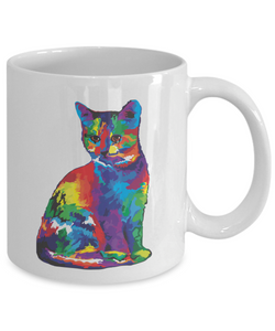 3d Lightning Cat Rainbow Mug Funny Gift Idea for Novelty Gag Coffee Tea Cup-[style]