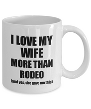 Load image into Gallery viewer, Rodeo Husband Mug Funny Valentine Gift Idea For My Hubby Lover From Wife Coffee Tea Cup-Coffee Mug