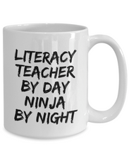 Load image into Gallery viewer, Literacy Teacher By Day Ninja By Night Mug Funny Gift Idea for Novelty Gag Coffee Tea Cup-[style]