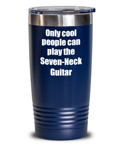 Funny Seven-Neck Guitar Player Tumbler Musician Gift Idea Gag Insulated with Lid Stainless Steel Cup-Tumbler