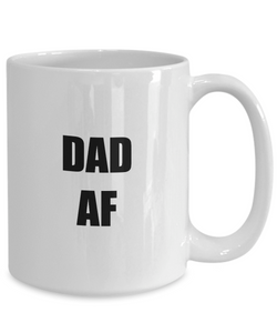 Dad Af Mug Funny Gift Idea for Novelty Gag Coffee Tea Cup-[style]