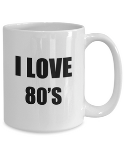 I Love 80s Mug For Women Funny Gift Idea Novelty Gag Coffee Tea Cup-Coffee Mug