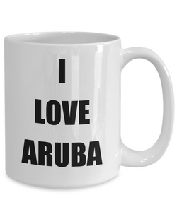 I Love Aruba Coffee Mug Funny Gift Idea Novelty Gag Coffee Tea Cup-Coffee Mug