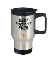 Load image into Gallery viewer, Physicist Travel Mug Best Ever Physic Funny Gift for Coworkers Novelty Gag Car Coffee Tea Cup 14oz Stainless Steel-Travel Mug
