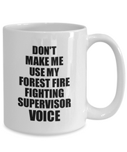 Load image into Gallery viewer, Forest Fire Fighting Supervisor Mug Coworker Gift Idea Funny Gag For Job Coffee Tea Cup Voice-Coffee Mug