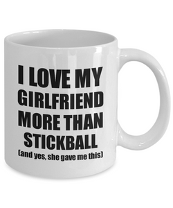Stickball Boyfriend Mug Funny Valentine Gift Idea For My Bf Lover From Girlfriend Coffee Tea Cup-Coffee Mug