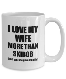 Skibob Husband Mug Funny Valentine Gift Idea For My Hubby Lover From Wife Coffee Tea Cup-Coffee Mug