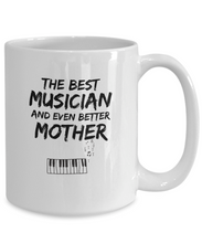 Load image into Gallery viewer, Pianist Mom Mug Best Musician Mother Funny Gift for Mama Novelty Gag Coffee Tea Cup-Coffee Mug