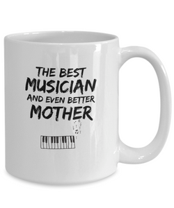 Pianist Mom Mug Best Musician Mother Funny Gift for Mama Novelty Gag Coffee Tea Cup-Coffee Mug