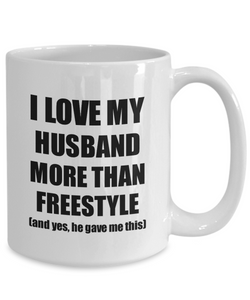 Freestyle Wife Mug Funny Valentine Gift Idea For My Spouse Lover From Husband Coffee Tea Cup-Coffee Mug