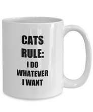 Load image into Gallery viewer, Cats Rule Mug Funny Gift Idea for Novelty Gag Coffee Tea Cup-[style]
