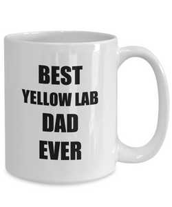 Yellow Lab Dad Mug Labrador Funny Gift Idea for Novelty Gag Coffee Tea Cup-[style]