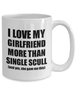 Single Scull Boyfriend Mug Funny Valentine Gift Idea For My Bf Lover From Girlfriend Coffee Tea Cup-Coffee Mug