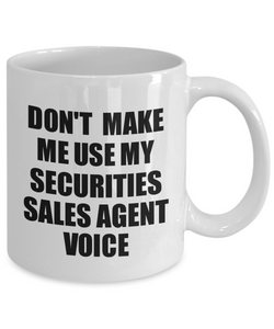 Securities Sales Agent Mug Coworker Gift Idea Funny Gag For Job Coffee Tea Cup Voice-Coffee Mug