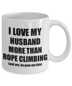 Rope Climbing Wife Mug Funny Valentine Gift Idea For My Spouse Lover From Husband Coffee Tea Cup-Coffee Mug