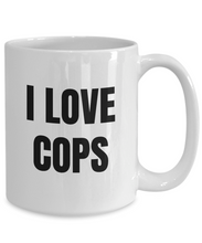 Load image into Gallery viewer, I Love Cops Mug Funny Gift Idea Novelty Gag Coffee Tea Cup-Coffee Mug