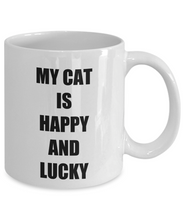 Load image into Gallery viewer, Happy Lucky Cat Mug Funny Gift Idea for Novelty Gag Coffee Tea Cup-[style]