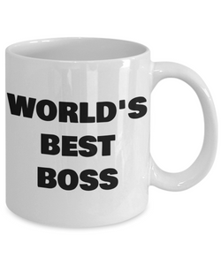 Worlds Best Boss Mug Funny Gift Idea for my Patron Supervisor CEO Director Supervisor Coffee Tea Cup-Coffee Mug