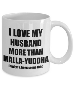 Malla-Yuddha Wife Mug Funny Valentine Gift Idea For My Spouse Lover From Husband Coffee Tea Cup-Coffee Mug