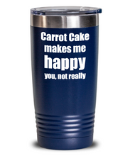 Load image into Gallery viewer, Carrot Cake Cocktail Tumbler Lover Fan Funny Gift Idea For Friend Alcohol Mixed Drink Coffee Tea Insulated Cup With Lid-Tumbler